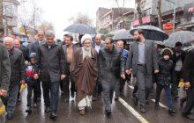 گزارش تصویری/ حماسه کم نظیر و به یادماندنی مردم رشت در راهپیمایی 22 بهمن زیر بارش رحمت الهی