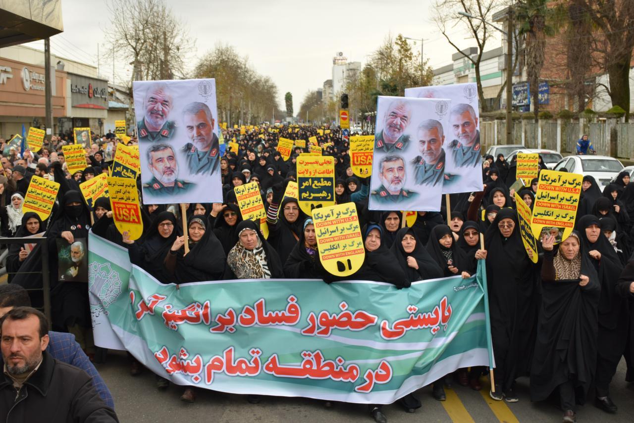 حضور آیت الله فلاحتی در راهپیمایی حمایت از اقتدار و صلابت نظام اسلامی+ گزارش تصویری