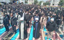 نماز ظهر عاشورا به امامت نماینده ولی فقیه در گیلان در میدان شهدای ذهاب رشت اقامه شد