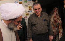حضور آیت الله فلاحتی در منزل جانباز ۷۰ درصد گیلانی+ تصاویر