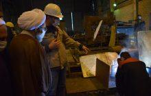 بازدید نماینده ولی فقیه در استان از بخش های مختلف مجتمع فولاد گیلان/ گزارش تصویری