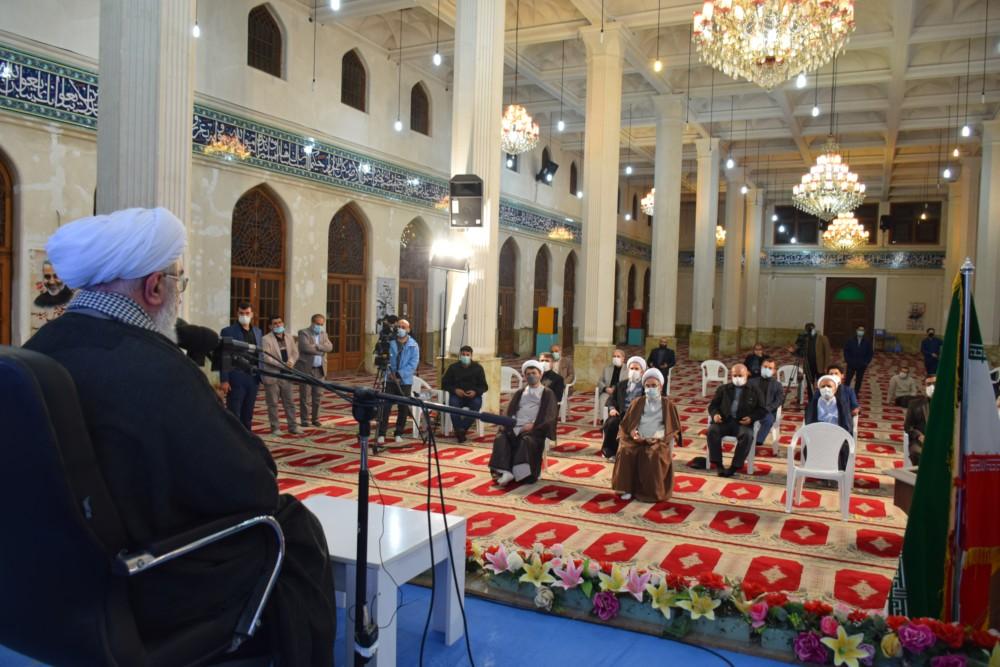 مراسم بزرگداشت روز جهانی قدس با سخنرانی آیت الله رمضانی و حضور نماینده ولی فقیه در گیلان برگزار شد + تصاویر